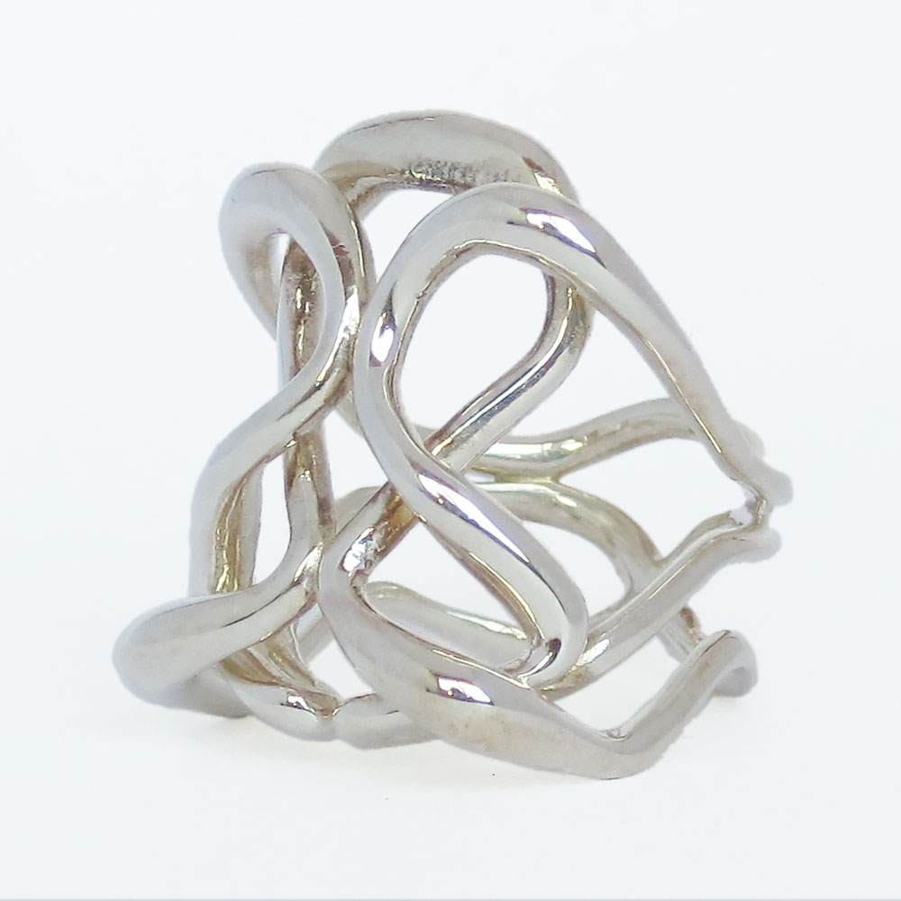 infinity ring silver