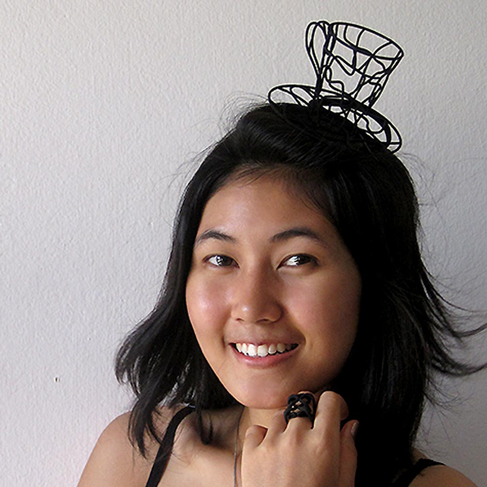 fascinator hats 3D printed