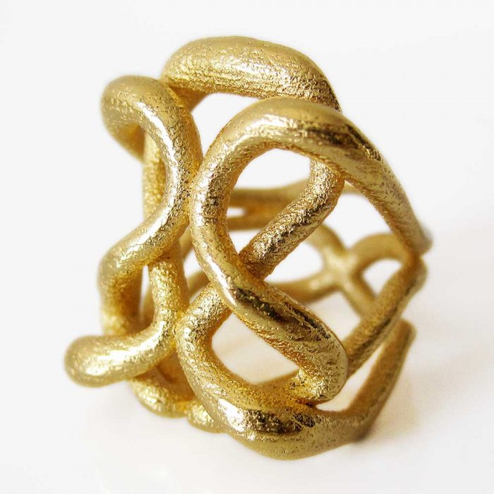 unique infinity rings in gold