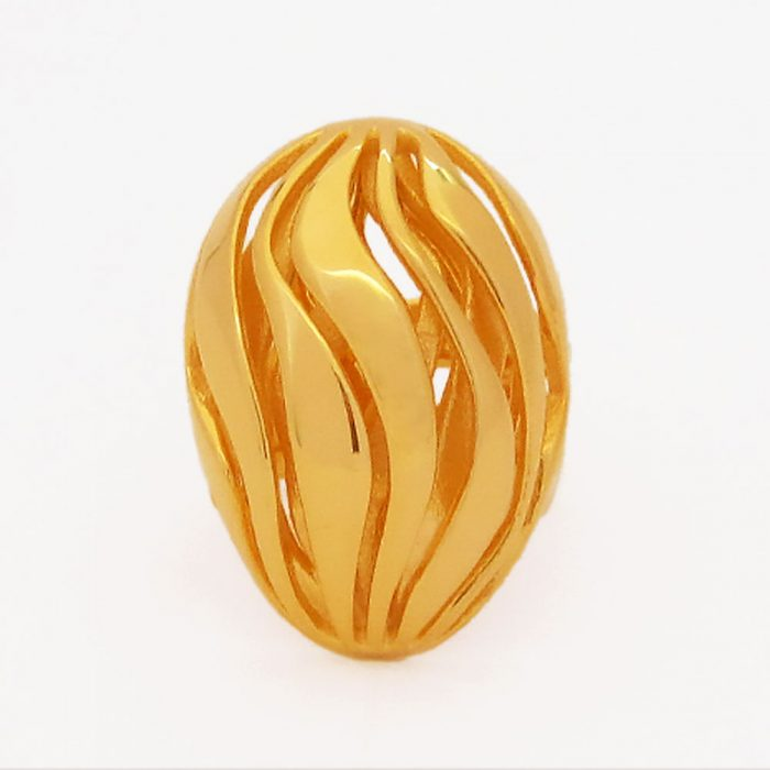 nature ring gold