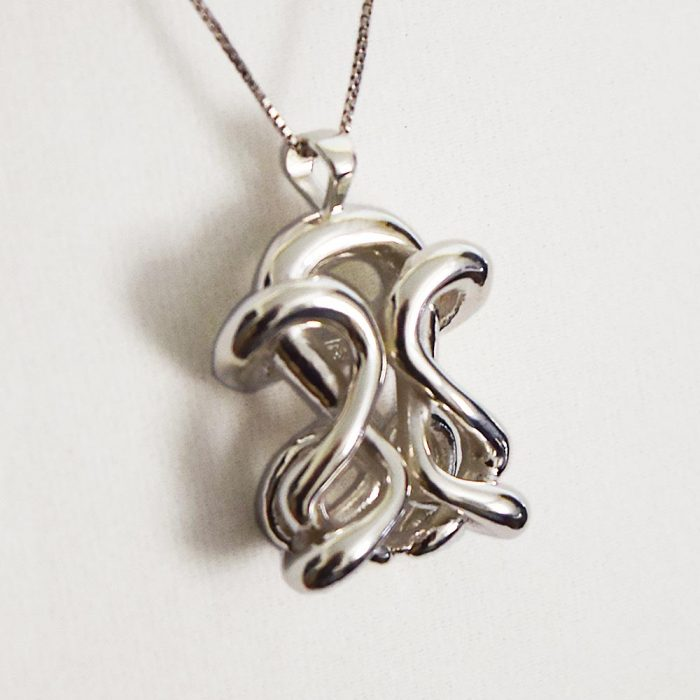 unique silver infinity pendant