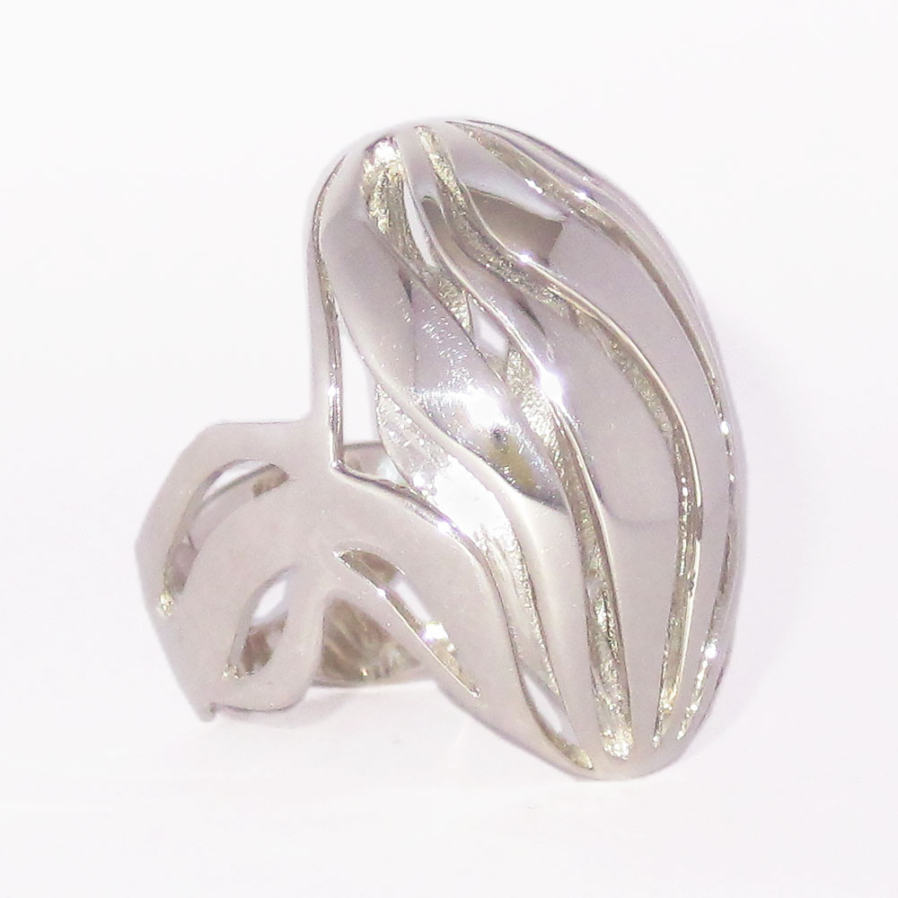 silver wave rings nature jewelry