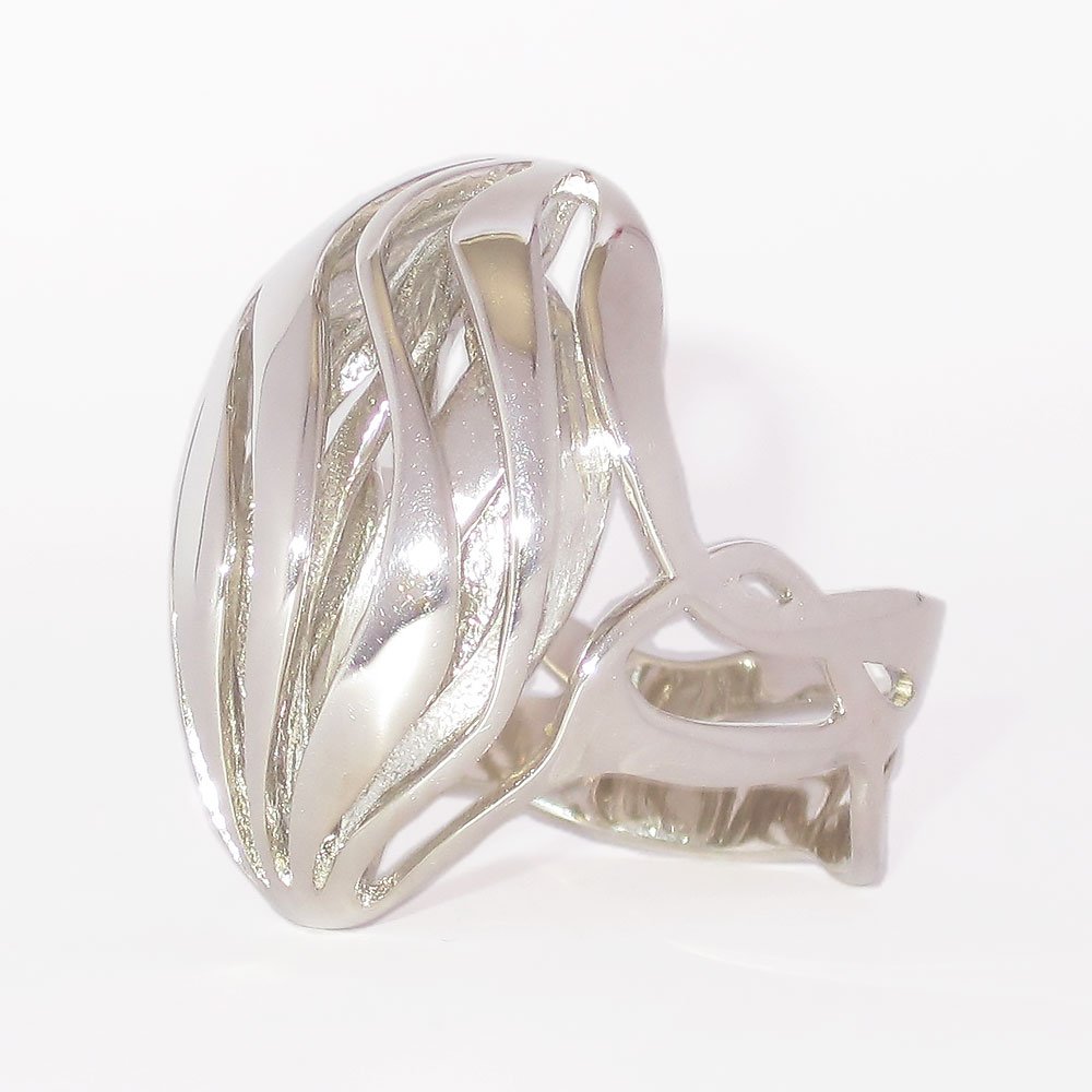 silver rings currents is nature jewelry with waves