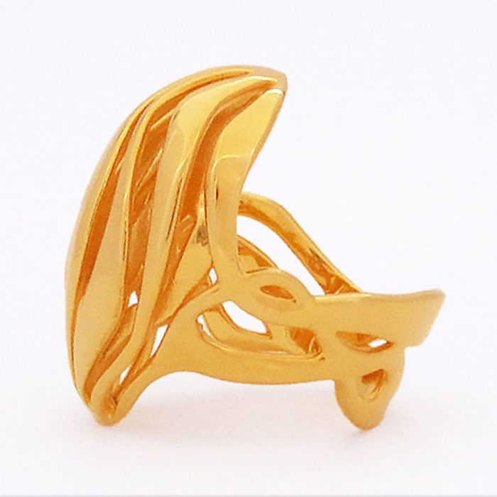 wave ring gold plated