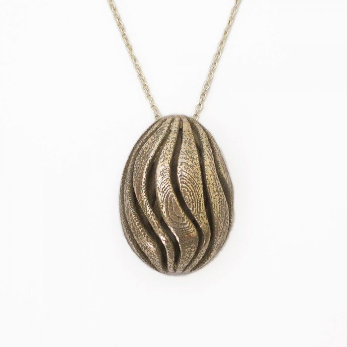 wave pendant necklace nature jewelry
