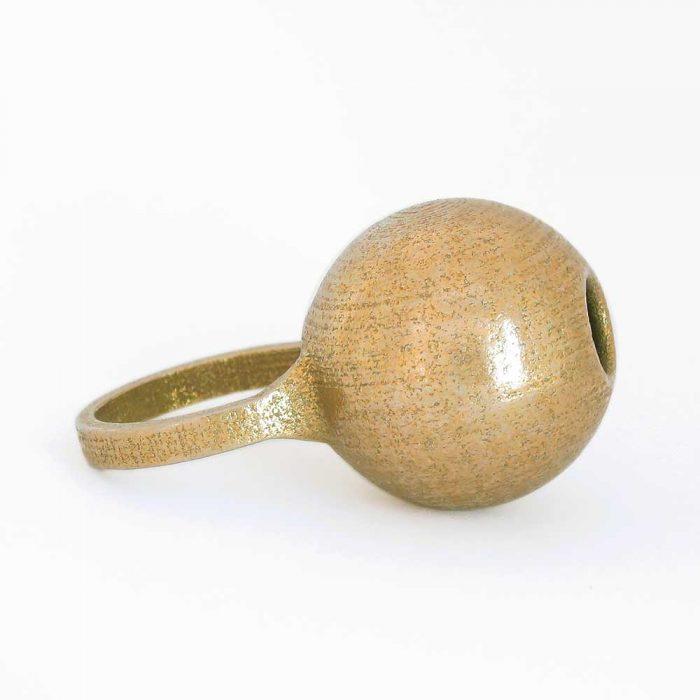 fun bauble ring 3D printed