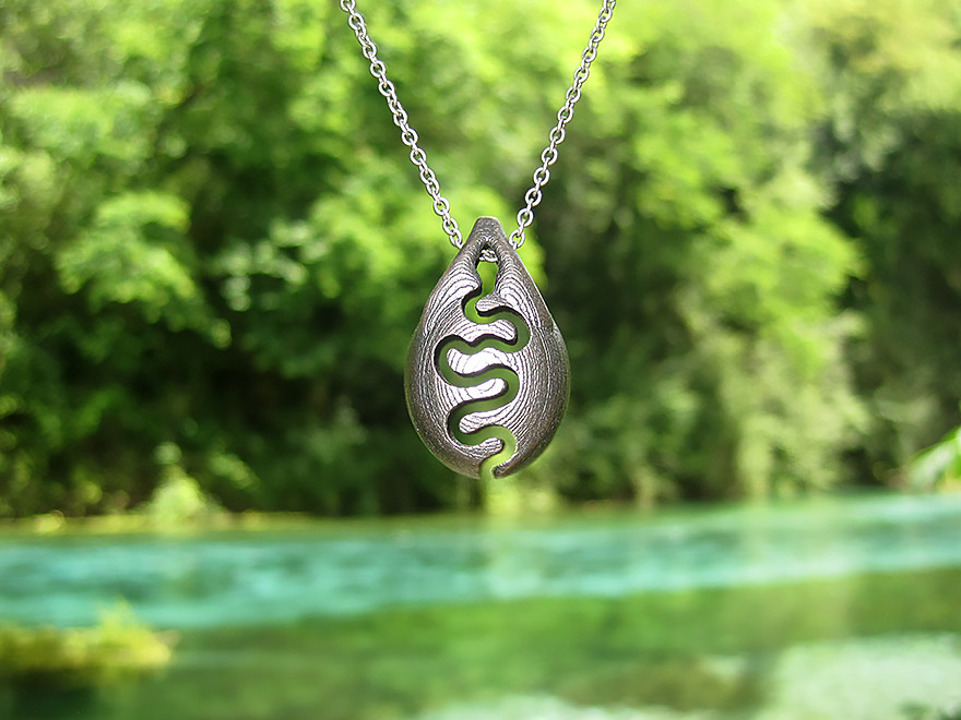 river nature inspired pendant necklace