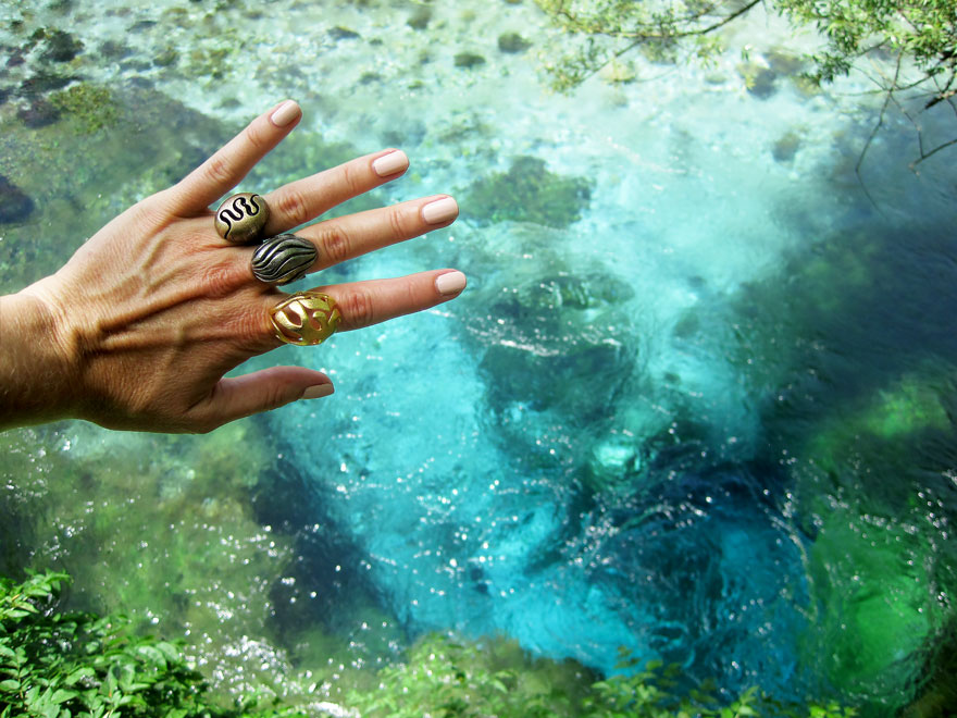 water inspired nature rings