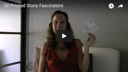 3D printed fascinators video by Sloris