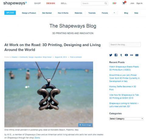 Shapeways guest blog post by Sloris